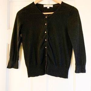 Ann Taylor LOFT black button up cardigan-XS-B4